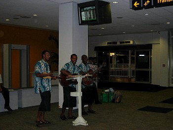 Bula!  Guitar players greeted us at Nadi airport at 05:30 in the morning!